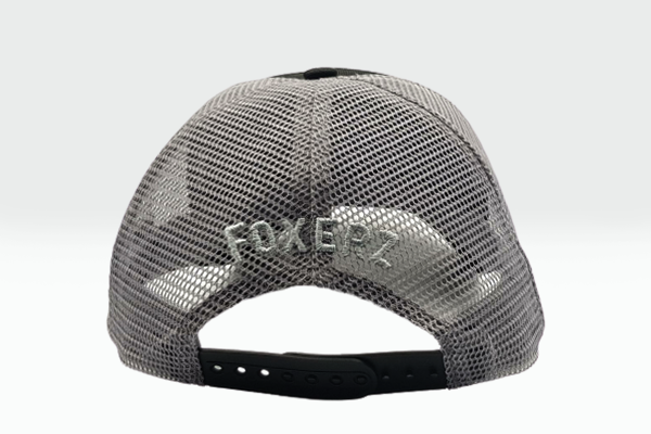 The Extended Fox Logo black cap rearward view