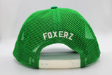 Foxerz Dubai green cap back-side view