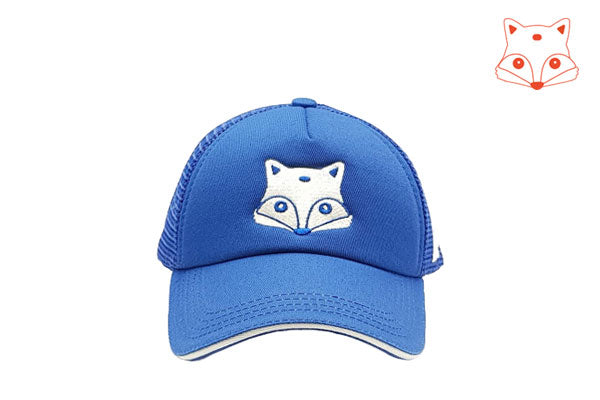 Foxerz Caps for Kids - fox doodle frontal cap sidelong view