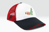 The UAE nation brand multicolored cap other sidelong view