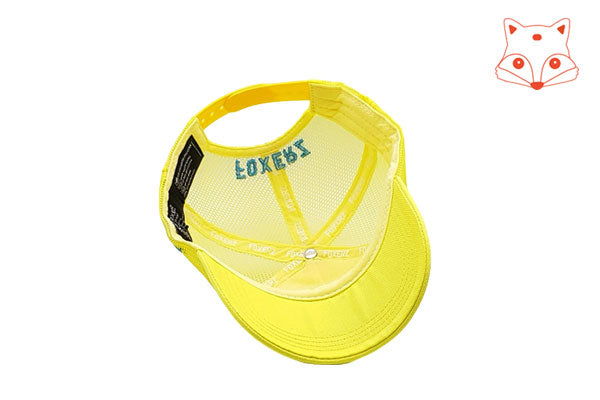 Foxerz Cap for Kids Cool yellow cap overturned view