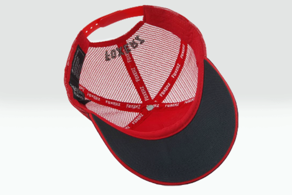 The UAE nation brand multicolored cap overturned view