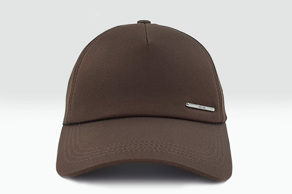 Plain brown Foxerz cap frontal view