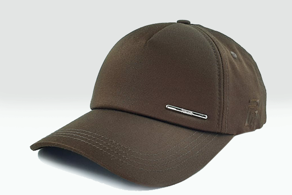 Plain brown Foxerz cap sidelong view
