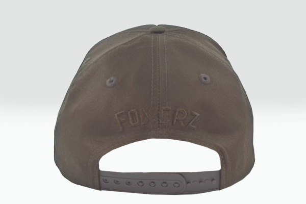 Plain brown Foxerz cap rearward view