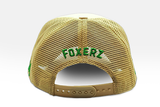 Foxerz's beige & green emblem of Saudi Arabia cap back-side view