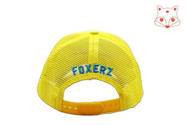 Foxerz Cap for Kids Cool yellow cap rearward view