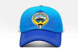 Foxerz's blue & white emblem of Kuwait cap front-side view
