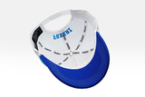 Foxerz's blue & white emblem of Kuwait cap overturned
