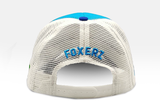 Foxerz's blue & white emblem of Kuwait cap back-side view
