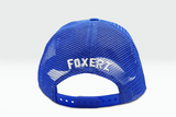 The Fox Logo blue cap rearward view