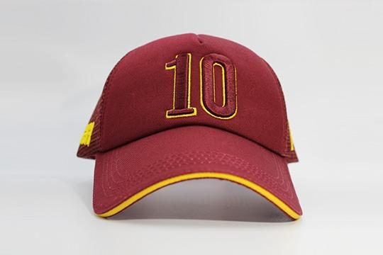 Number 10 cap maroon frontal view