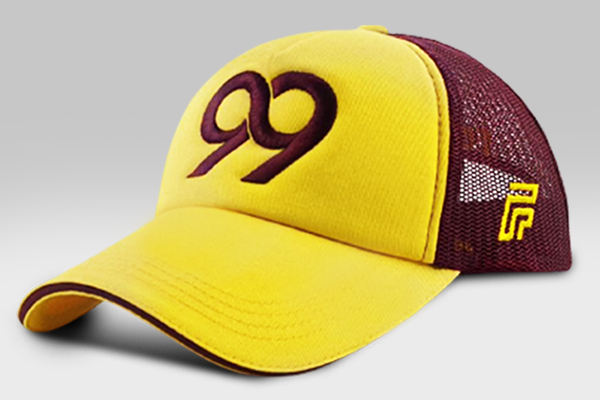 Cap 99 - Yellow/Burgundy