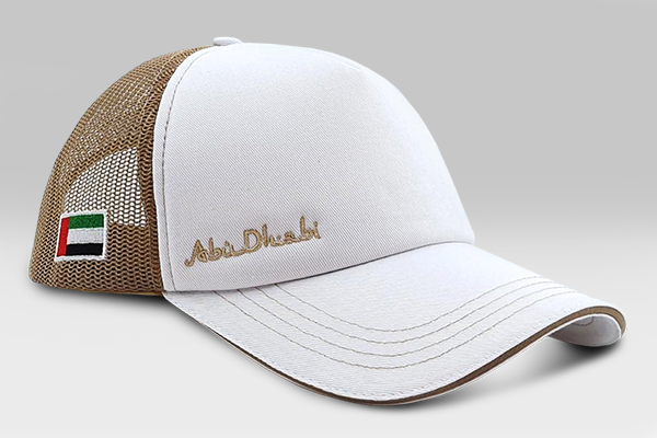 Abu Dhabi Cap - White/Gold | Large