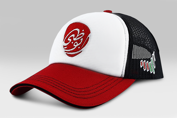 Abu Dhabi Brand Cap - Red& Black & White