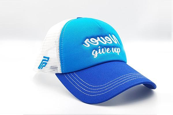 foxerz blue white cap never_give_up sidelong view 2