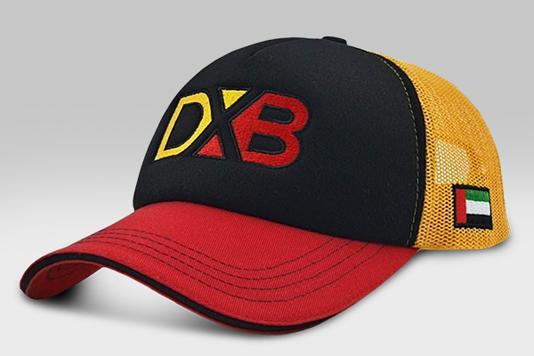 The DXB Cap -  Red/Black/Yellow | Large