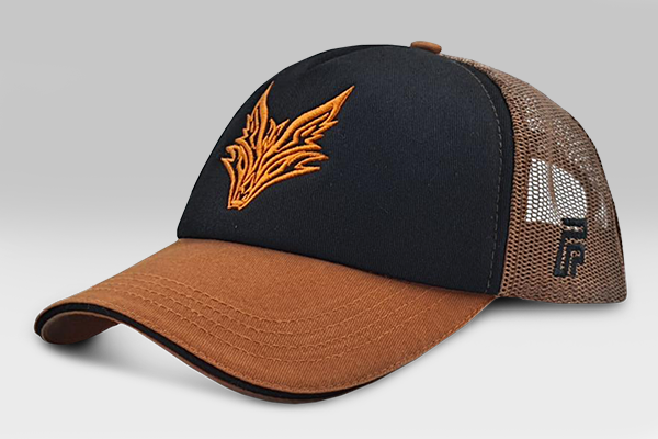 The Fox Cap - Dark Orange/Black | Large