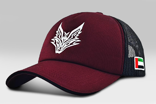 The Fox Logo Cap - Maroon& Black | Large