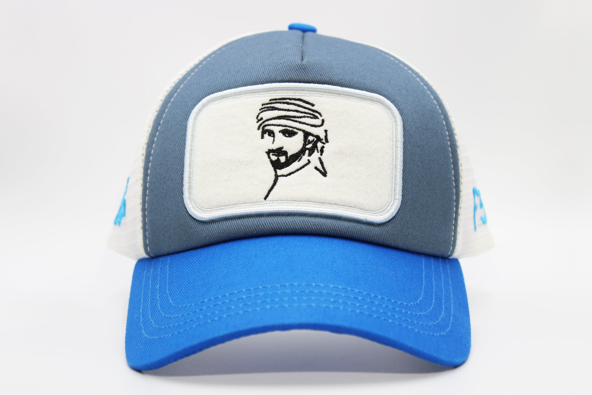fazza f3 cap blue/white by Foxerz front-side view