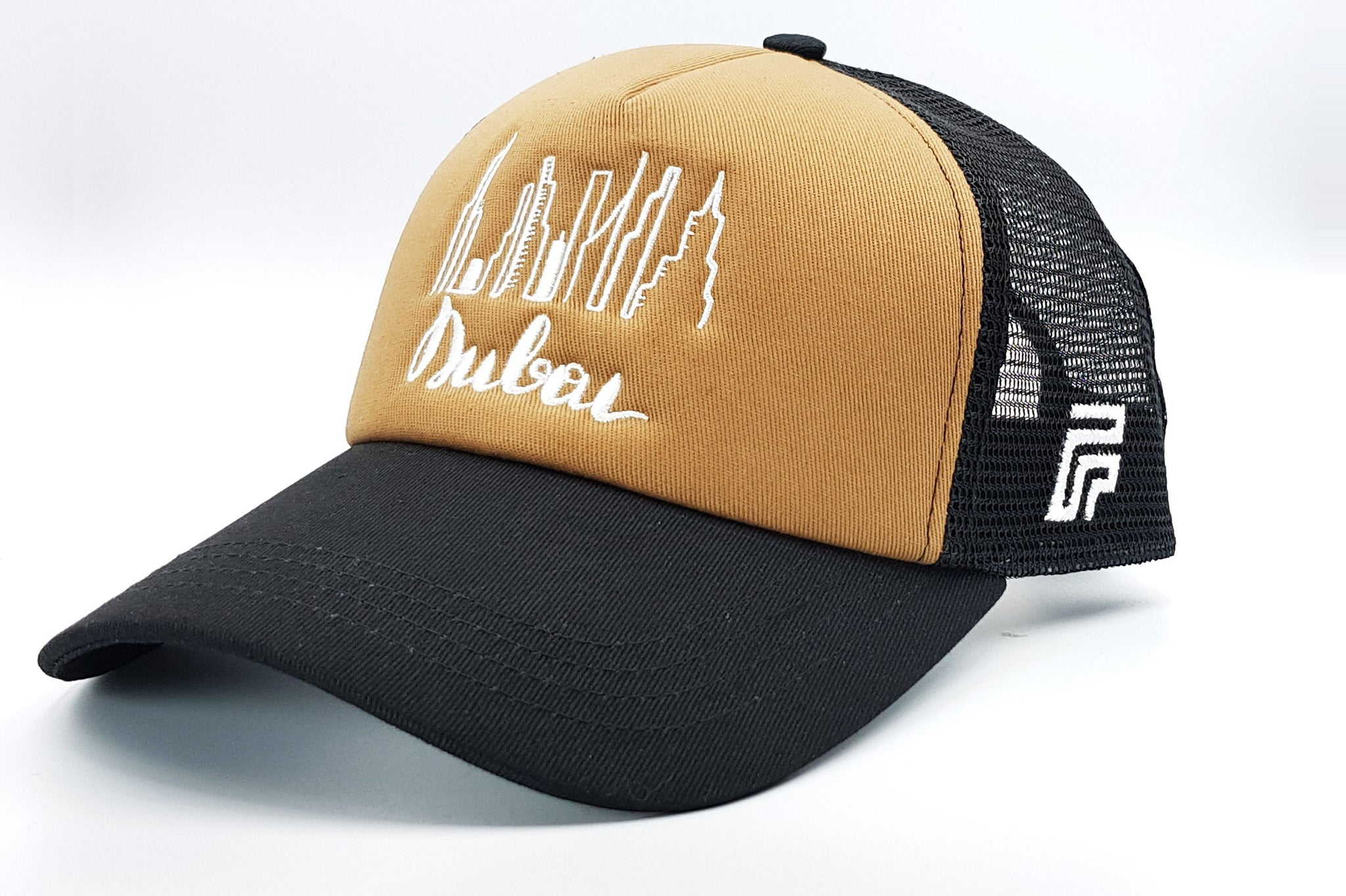Dubai cap brown-black Foxerz sidelong view
