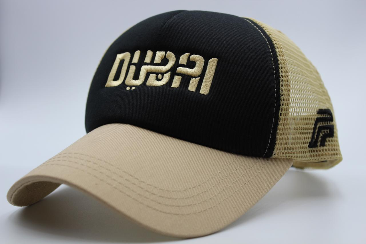 foxerz black-beige cap Dubai sidelong view
