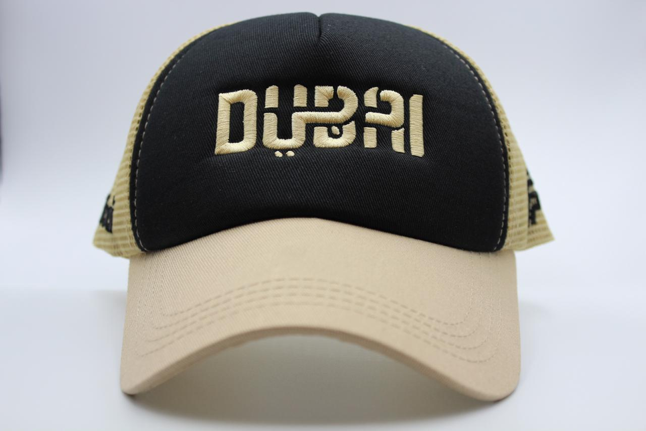 foxerz black-beige cap Dubai front-side view