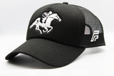 foxerz black horseman cap sidelong view