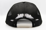 foxerz black horseman cap back-side view