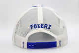 Foxerz blue white Abu Dhabi cap back-side view