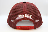 foxerz maroon horseman cap back-side view