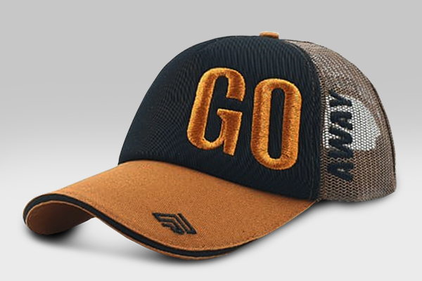 Go Away Cap - Orange & Black | Large