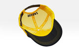 Foxerz's black & yellow Motivated cap overturned