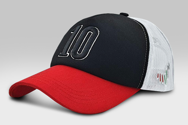 The 10 Cap - Red & Black | Large