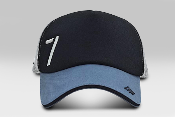Cap 7 - Black& Grey | Large