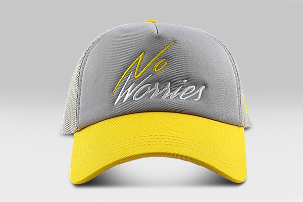 The No Worries Cap - Grey/Yellow
