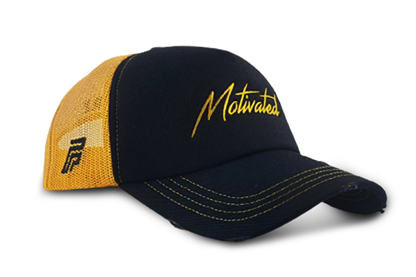 The Motivated Cap - Black& Yellow | Large