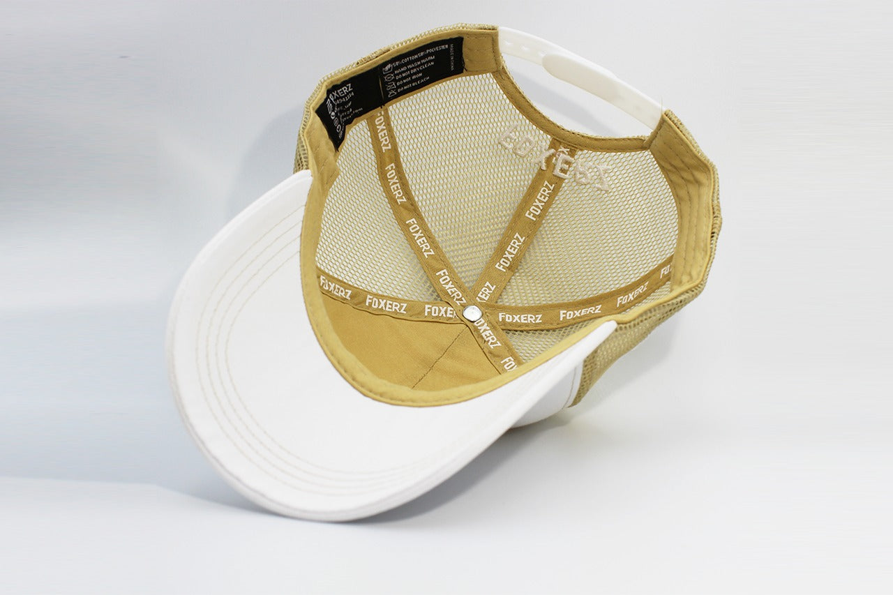 The UAE nation brand white/gold cap overturned view