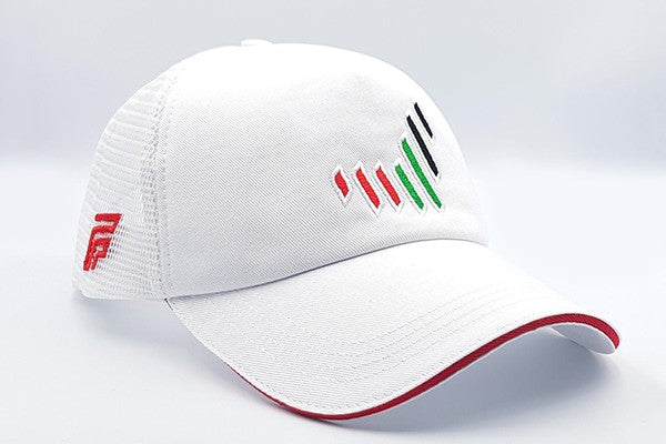 The UAE nation brand white cap other sidelong view