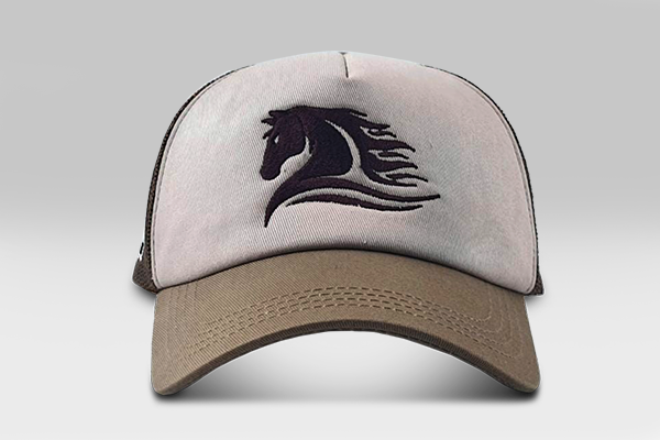 Wild Horse Cap - Beige & Brown | Large