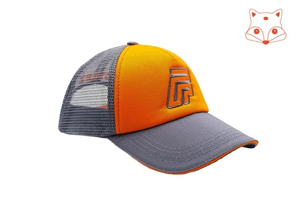 Caps for kids - Foxerz logo orange/grey cap another sidelong view