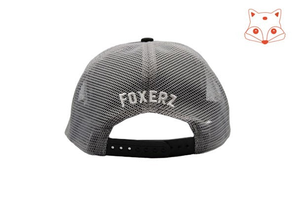 Foxerz Caps for boys - fox logo black cap rearward view