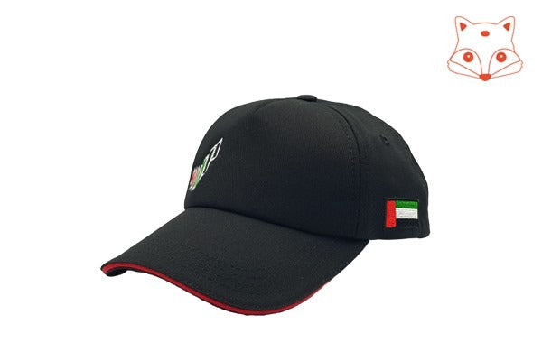 Foxerz caps for kids - The UAE nation brand black cap sidelong view