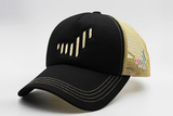 The UAE nation brand black/gold cap sidelong view