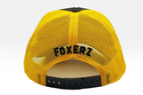 Foxerz's black & yellow Motivated cap back-side view