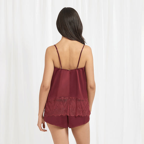 Elva Set Top e Short Bordeaux