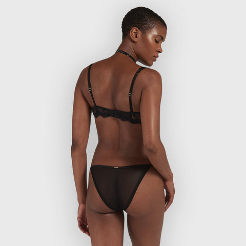Mera Slip con Harness Removibile Nero