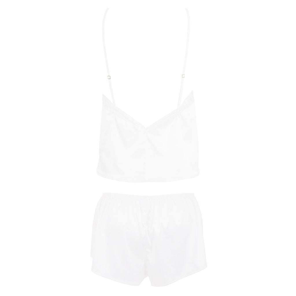 Luna Set Top e Short Avorio