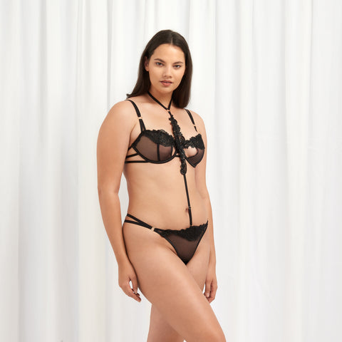 Julienne Perizoma Harness Nero