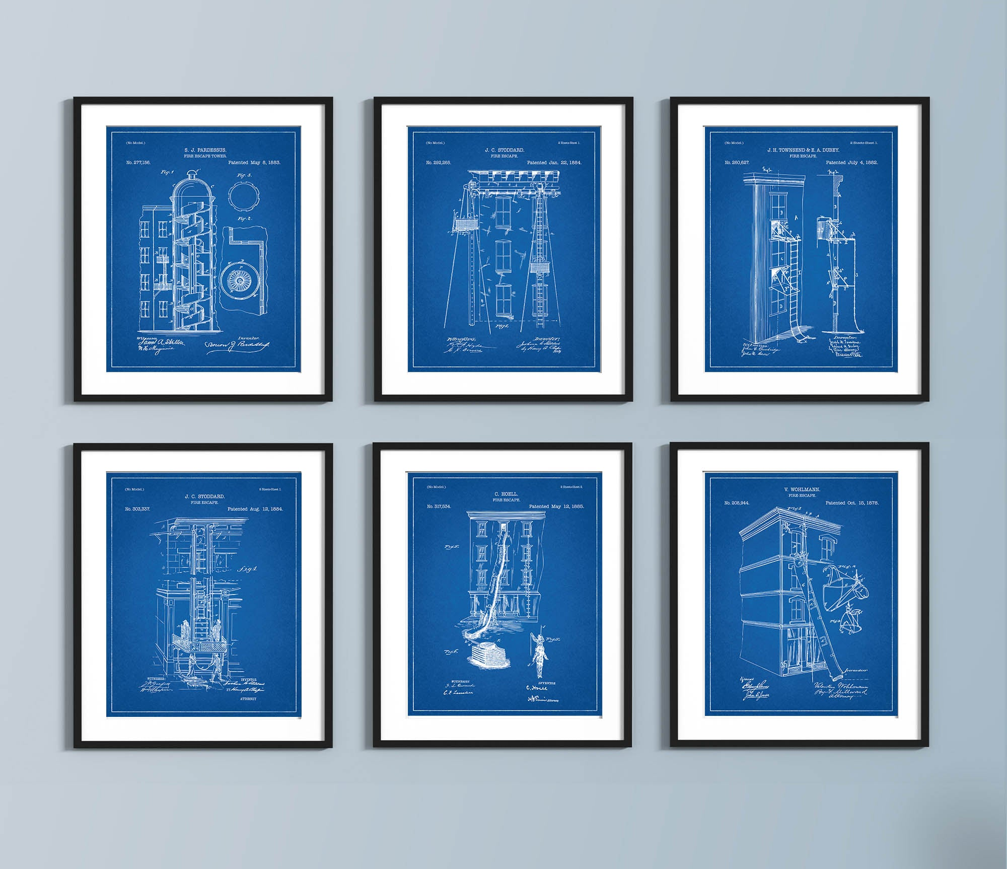 Fire Escape Blueprint Set